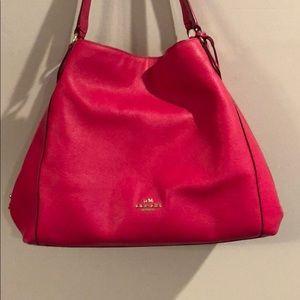 Large Pink Coach Hobo Bag
